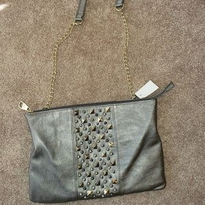 Brand New Never Used Steve Madden Pewter Purse